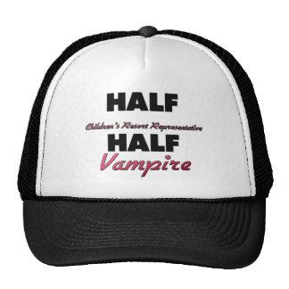 Half Children's Resort Representative Half Vampire Mesh Hats