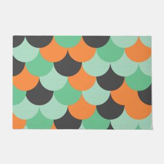 Half circle pattern doormat