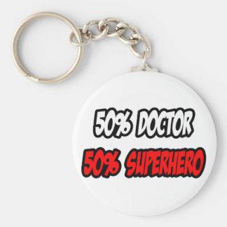 Half Doctor...Half Superhero Keychain