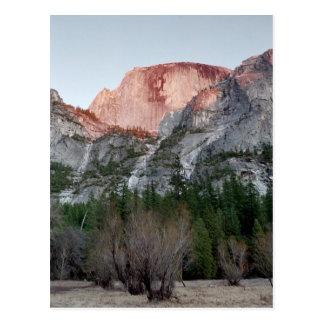 Half Dome-Alenglow. Postcard