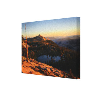 Half Dome and Clouds Rest at Sunset - Yosemite Canvas Print