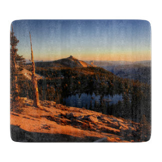Half Dome and Clouds Rest at Sunset - Yosemite Cutting Board