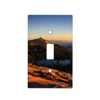 Half Dome and Clouds Rest at Sunset - Yosemite Light Switch Cover