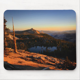 Half Dome and Clouds Rest at Sunset - Yosemite Mouse Pad