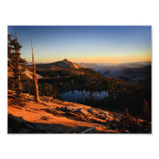 Half Dome and Clouds Rest at Sunset - Yosemite Photo Print