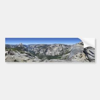 Half Dome and Yosemite Valley - Yosemite Bumper Sticker