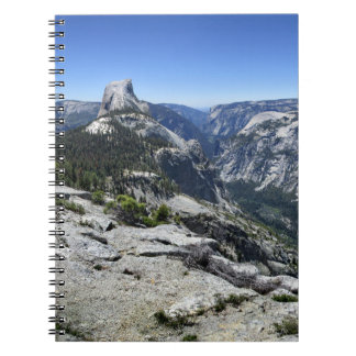 Half Dome and Yosemite Valley - Yosemite Spiral Notebook