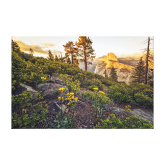 Half Dome at Sunset Canvas Print