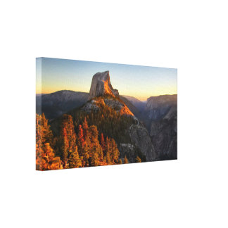 Half Dome at Sunset Detail - Yosemite Canvas Print
