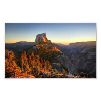 Half Dome at Sunset Detail - Yosemite Photo Print