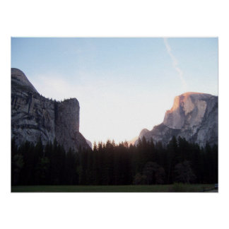 half dome from yosemite valley poster