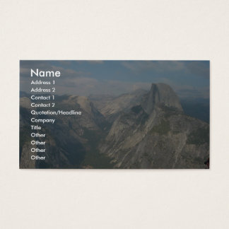 Half Dome In Yosemite National Park (As Viewed Fro Business Card