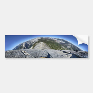 Half Dome Looking Down from the Cables - Yosemite Bumper Sticker
