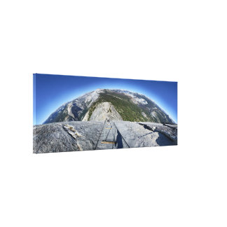 Half Dome Looking Down from the Cables - Yosemite Canvas Print
