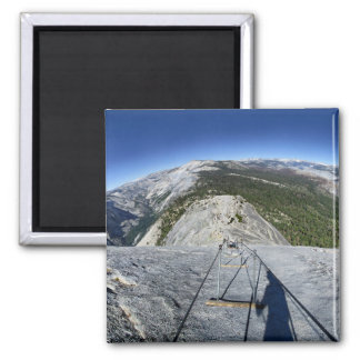 Half Dome Looking Down from the Cables - Yosemite Magnet