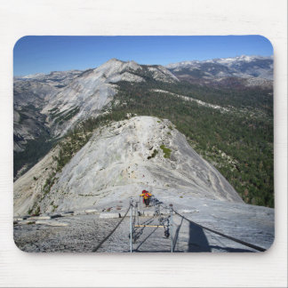 Half Dome Looking Down from the Cables - Yosemite Mouse Pad