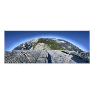 Half Dome Looking Down from the Cables - Yosemite Photo Print