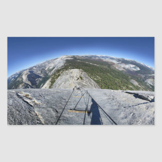 Half Dome Looking Down from the Cables - Yosemite Sticker