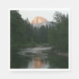 Half Dome Sunset in Yosemite National Park Paper Napkins