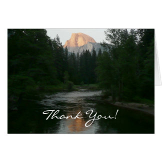 Half Dome Sunset Thank You Card