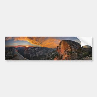 Half Dome Sunset - Yosemite Bumper Sticker