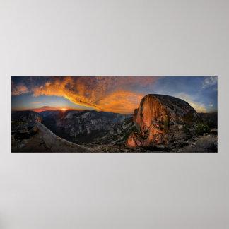 Half Dome Sunset - Yosemite Poster
