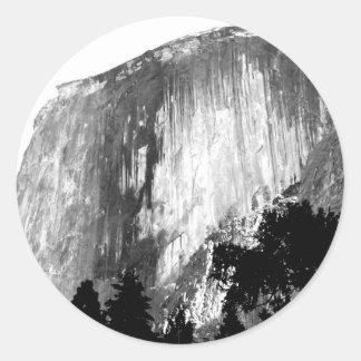 HALF DOME - Yosemite Classic Round Sticker