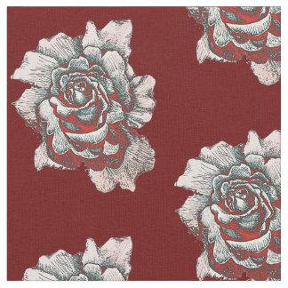 Half Drop Rose Pattern Fabric