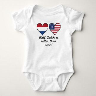 Half Dutch Is Better Than None Baby Bodysuit