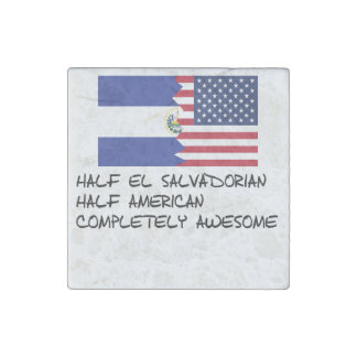 Half El Salvadorian Completely Awesome Stone Magnets