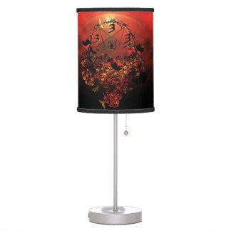 half evil pentagram table lamp