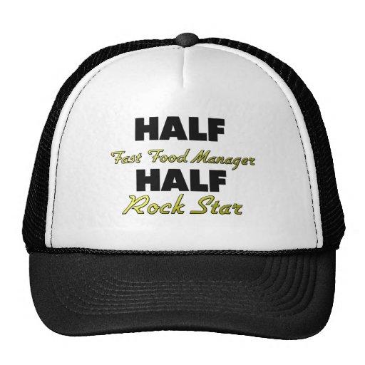 Half Fast Food Manager Half Rock Star Mesh Hat