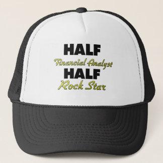 Half Financial Analyst Half Rock Star Trucker Hat