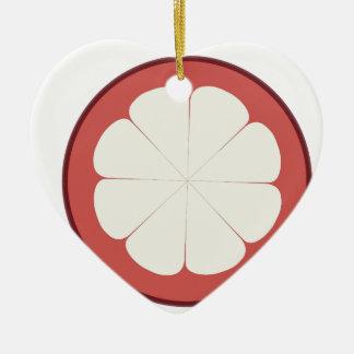 half fruit design ceramic ornament