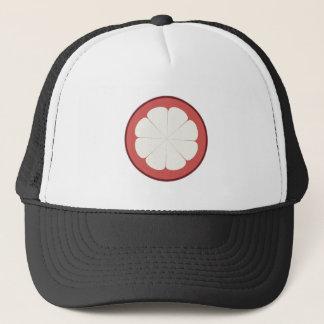 half fruit design trucker hat