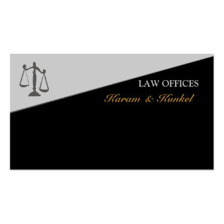 Half Geometric  Colored  Justice Scale Legal Business Card
