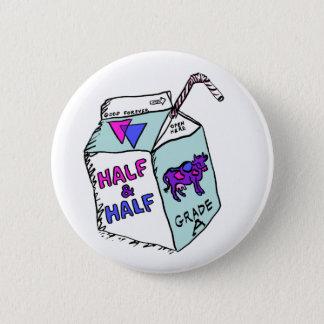 Half & Half 2 Inch Round Button