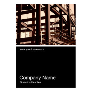 Half&Half Photo 03 - Steel Frame Construction Pack Of Chubby Business Cards