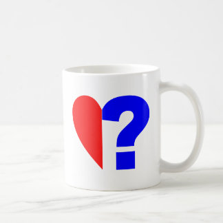 half heart question mark helped heart question Mar Coffee Mug