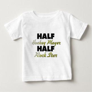 Half Hockey Player Half Rock Star Baby T-Shirt