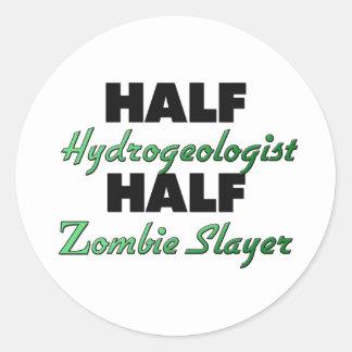 Half Hydrogeologist Half Zombie Slayer Stickers