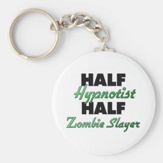 Half Hypnotist Half Zombie Slayer Basic Round Button Keychain