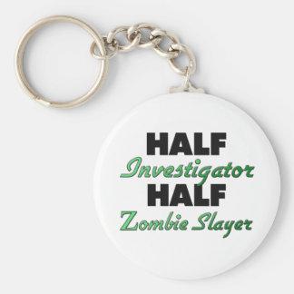 Half Investigator Half Zombie Slayer Basic Round Button Keychain