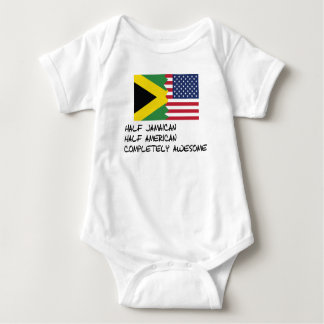 Half Jamaican Completely Awesome Baby Bodysuit