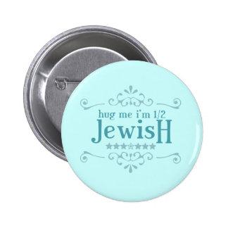 Half Jewish 2 Inch Round Button
