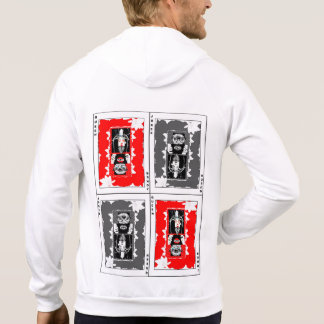 Half Joker, Half Queen (Red, White, and Black) Hoodie