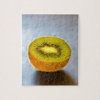 half Kiwi on the table Jigsaw Puzzle
