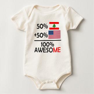 Half Lebanese Half American Baby Bodysuit