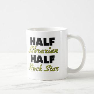 Half Librarian Half Rock Star Coffee Mug