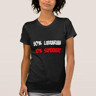 Half Librarian Half Superhero Tee Shirt